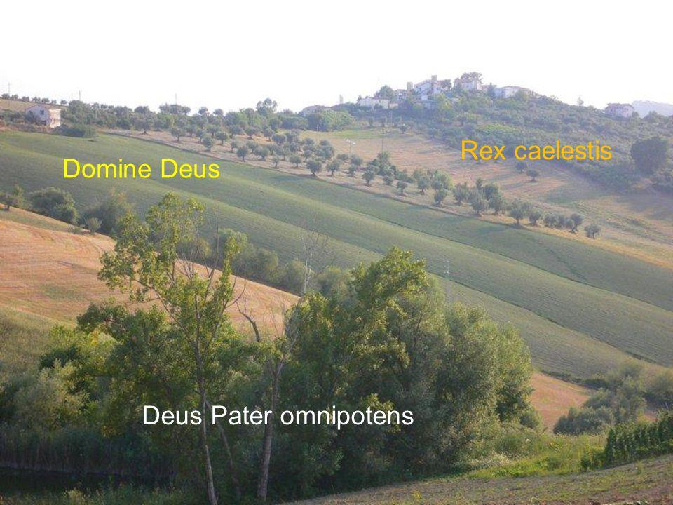 Domine Deus Rex caelestis Deus Pater omnipotens