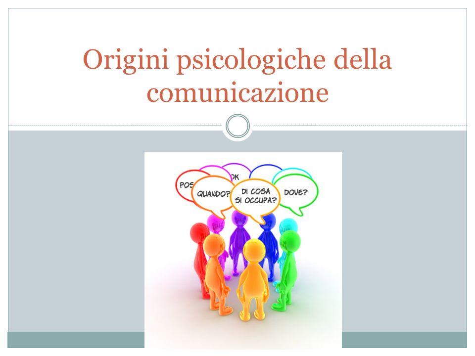 Origini psicologiche della comunicazione
