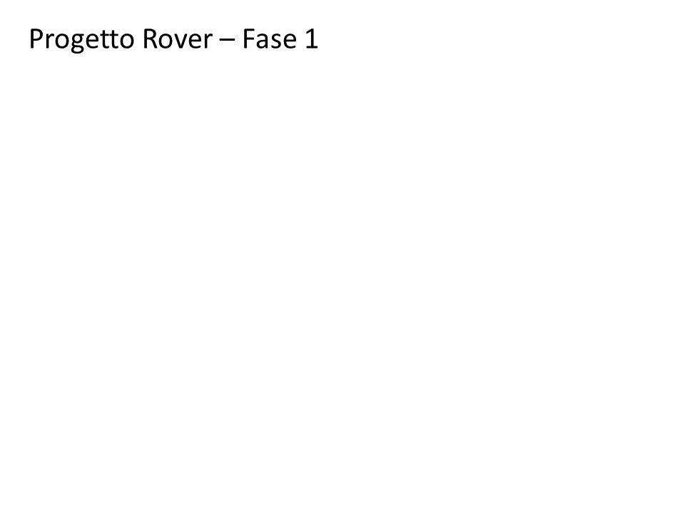 Progetto Rover – Fase 1