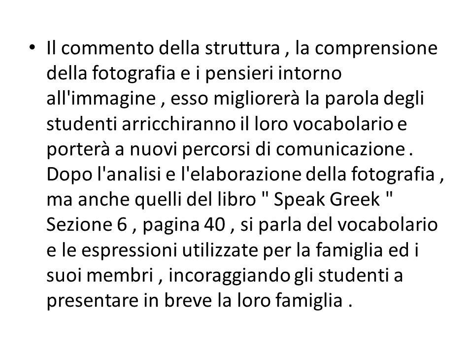 Il commento della struttura, la comprensione della fotografia e i pensieri intorno all'immagine, esso migliorerà la parola degli studenti arricchirann