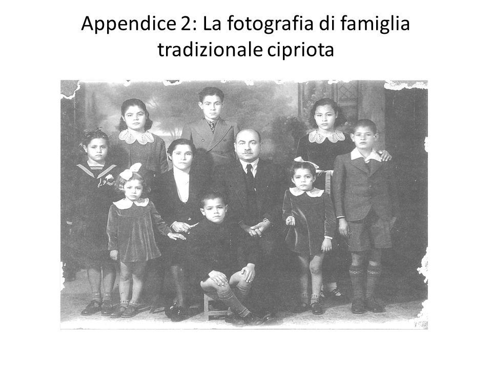 Appendice 2: La fotografia di famiglia tradizionale cipriota