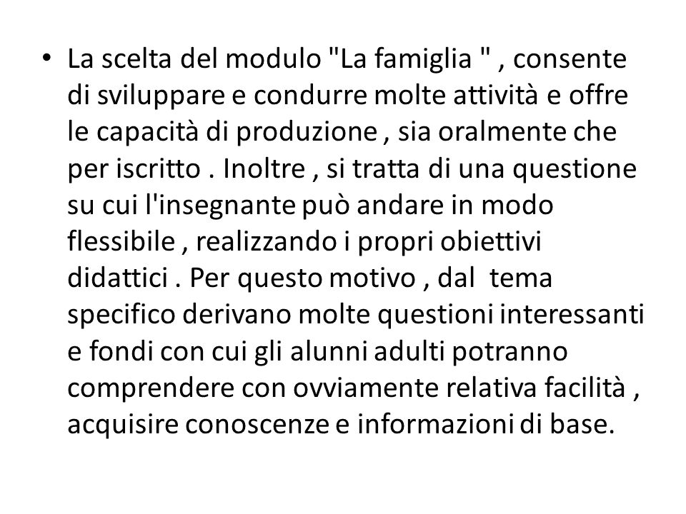 E ovvio che in questa sottosezione, con più enfasi data alla parola data a nome degli studenti che utilizzano la speciale vocabolario di unità, realizzando così gli obiettivi fissati inizialmente semantici.