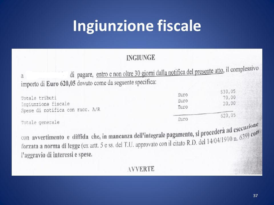 Ingiunzione fiscale 37