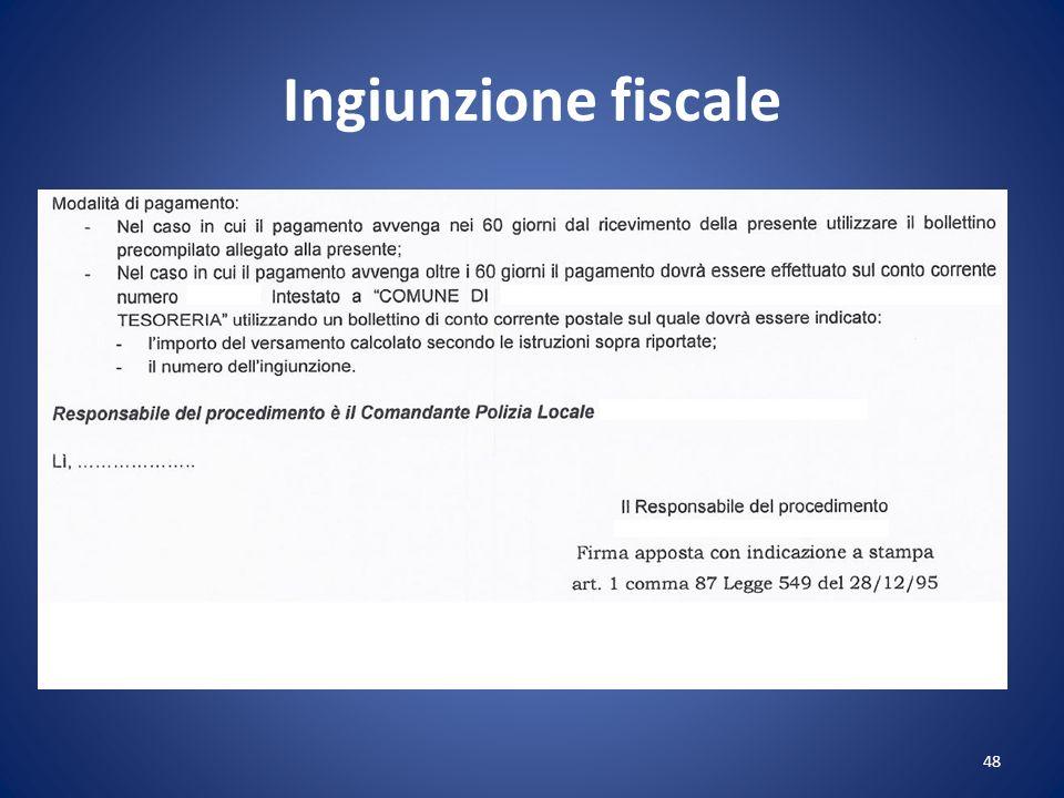 Ingiunzione fiscale 48