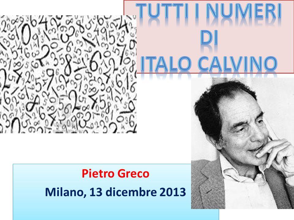 Calvino incontra Giorgio de Santillana, fisico e filosofo, allievo di quel matematico italiano, Federigo Enriques, che forse più di ogni altro ha coltivato la matematica e la filosofia.
