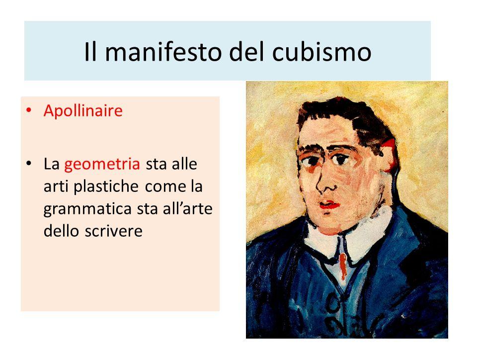 Il manifesto del cubismo Apollinaire La geometria sta alle arti plastiche come la grammatica sta allarte dello scrivere