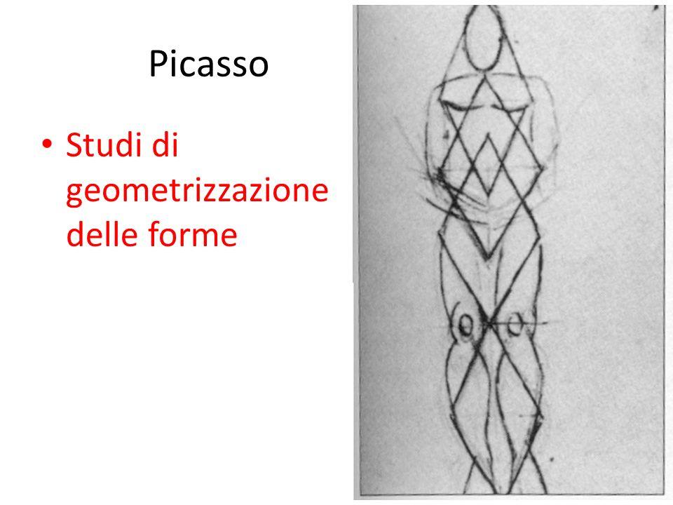 Picasso Studi di geometrizzazione delle forme