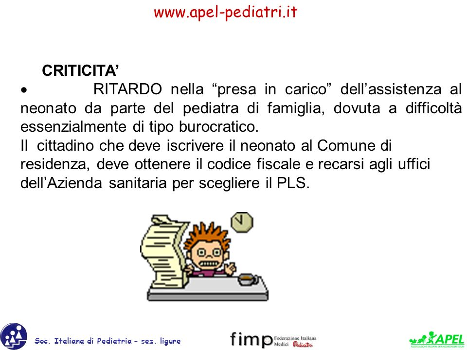 Soc.Italiana di Pediatria – sez.