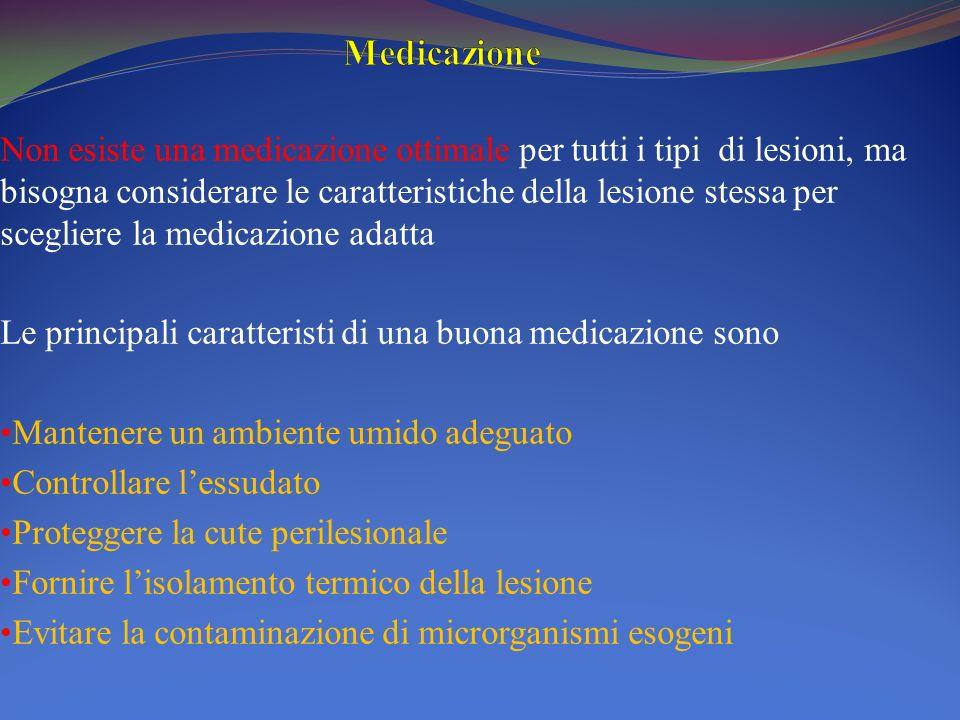 Non esiste una medicazione ottimale per tutti i tipi di lesioni, ma bisogna considerare le caratteristiche della lesione stessa per scegliere la medic
