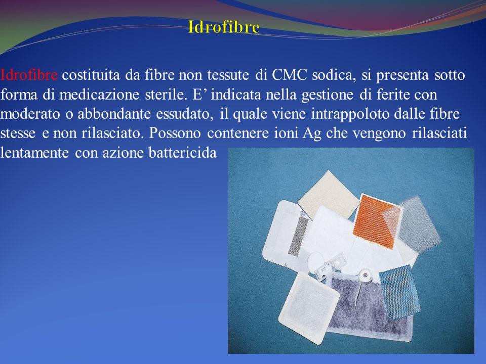 Idrofibre costituita da fibre non tessute di CMC sodica, si presenta sotto forma di medicazione sterile. E indicata nella gestione di ferite con moder