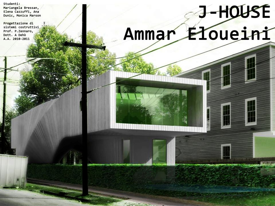 Biografia -Ammar Eloueini nasce a Beirut in Libano nel 1968 -Frequenta lEcole dArchitetcture a Parigi e studia in alcune Università negli Stati Uniti, ad esempio nella Columbia University, dove si laurea con un Master in Scienza del Design Architettonico nel 1996.