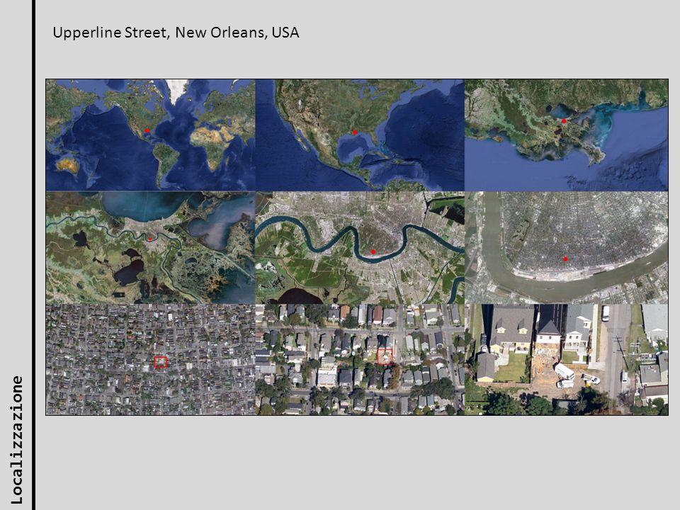 Localizzazione Upperline Street, New Orleans, USA