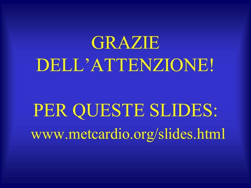 GRAZIE DELLATTENZIONE! PER QUESTE SLIDES: www.metcardio.org/slides.html