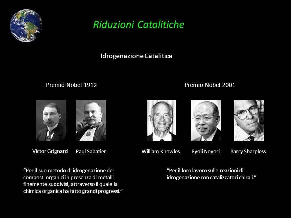 Riduzioni Catalitiche Idrogenazione Catalitica Premio Nobel 1912 Paul Sabatier Victor Grignard Per il suo metodo di idrogenazione dei composti organic