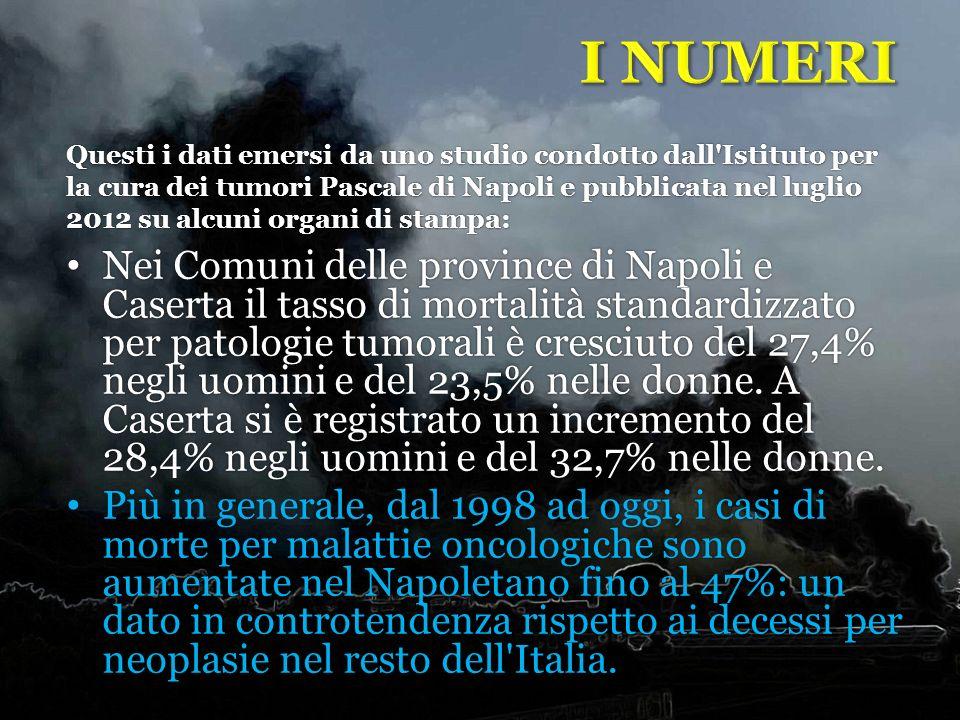 Nei Comuni delle province di Napoli e Caserta il tasso di mortalità standardizzato per patologie tumorali è cresciuto del 27,4% negli uomini e del 23,