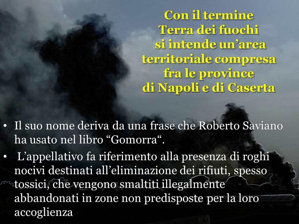 Il suo nome deriva da una frase che Roberto Saviano ha usato nel libro Gomorra. Il suo nome deriva da una frase che Roberto Saviano ha usato nel libro