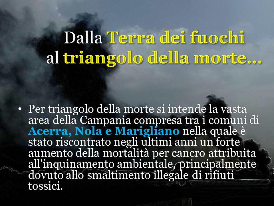 Per triangolo della morte si intende la vasta area della Campania compresa tra i comuni di nella quale è stato riscontrato negli ultimi anni un forte