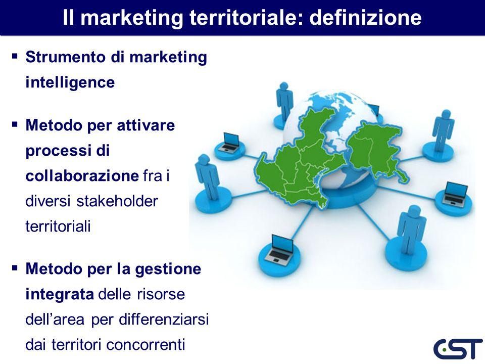 Strumento di marketing intelligence Metodo per attivare processi di collaborazione fra i diversi stakeholder territoriali Metodo per la gestione integ