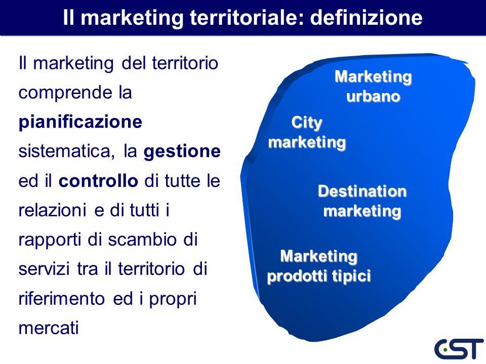 Il marketing del territorio comprende la pianificazione sistematica, la gestione ed il controllo di tutte le relazioni e di tutti i rapporti di scambi