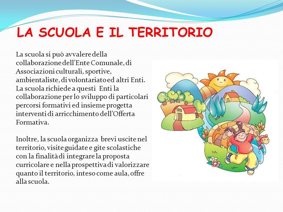 LA SCUOLA E IL TERRITORIO La scuola si può avvalere della collaborazione dellEnte Comunale, di Associazioni culturali, sportive, ambientaliste, di vol