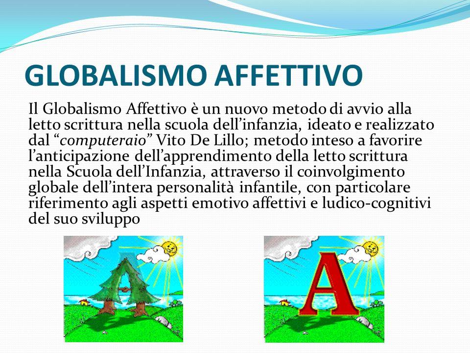 GLOBALISMO AFFETTIVO Il Globalismo Affettivo è un nuovo metodo di avvio alla letto scrittura nella scuola dellinfanzia, ideato e realizzato dal comput