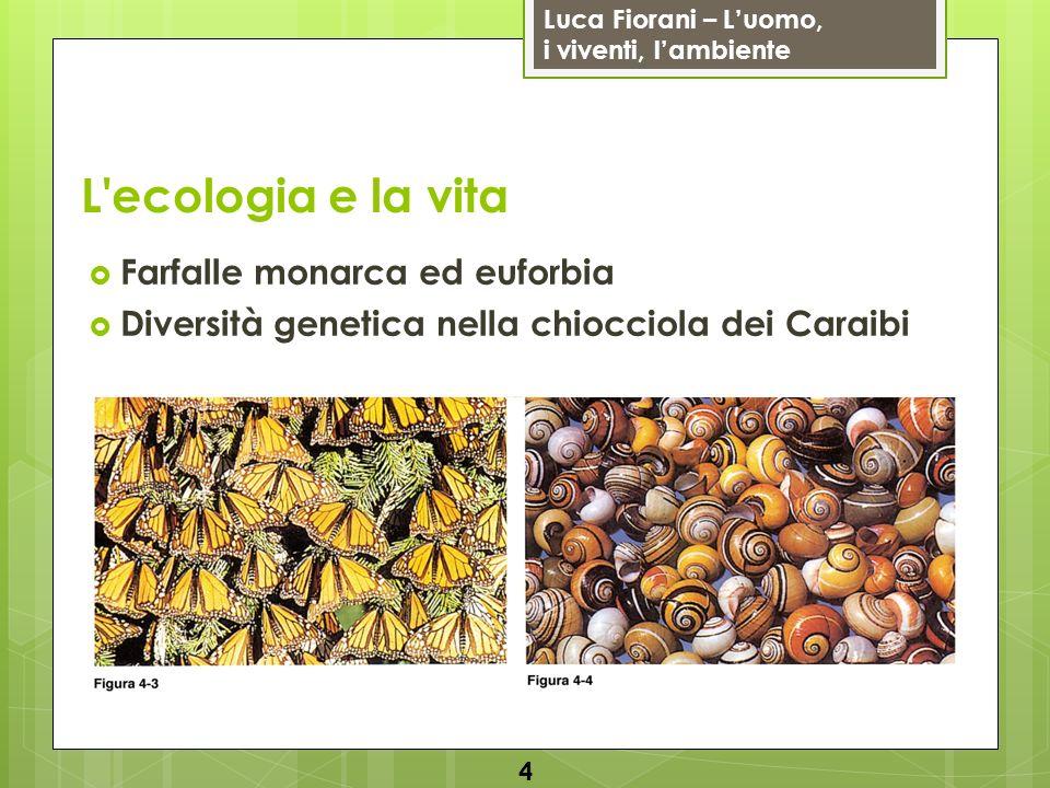Luca Fiorani – Luomo, i viventi, lambiente L'ecologia e la vita Farfalle monarca ed euforbia Diversità genetica nella chiocciola dei Caraibi 4