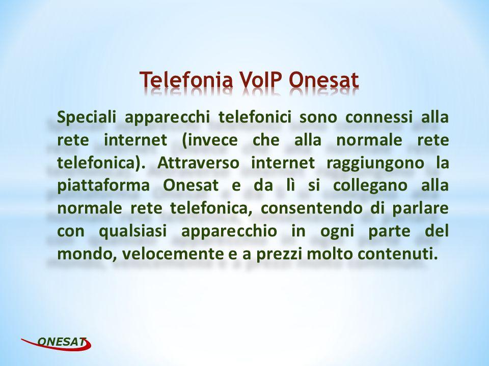 Speciali apparecchi telefonici sono connessi alla rete internet (invece che alla normale rete telefonica).