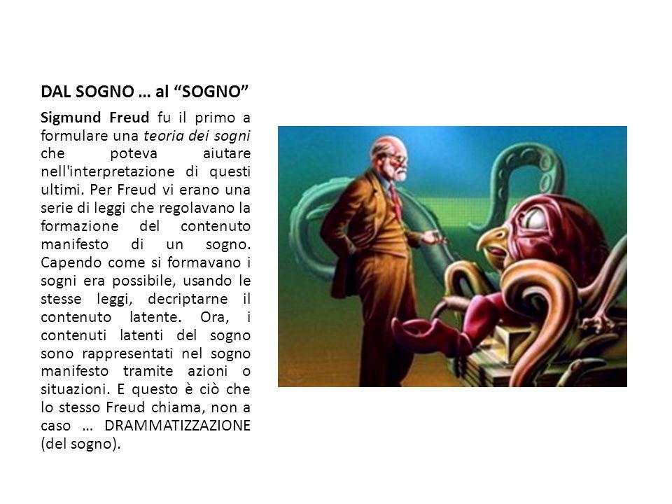 DAL SOGNO … al SOGNO Sigmund Freud fu il primo a formulare una teoria dei sogni che poteva aiutare nell'interpretazione di questi ultimi. Per Freud vi