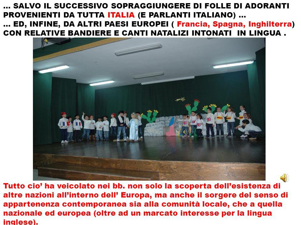 … SALVO IL SUCCESSIVO SOPRAGGIUNGERE DI FOLLE DI ADORANTI PROVENIENTI DA TUTTA ITALIA (E PARLANTI ITALIANO) … … ED, INFINE, DA ALTRI PAESI EUROPEI ( F