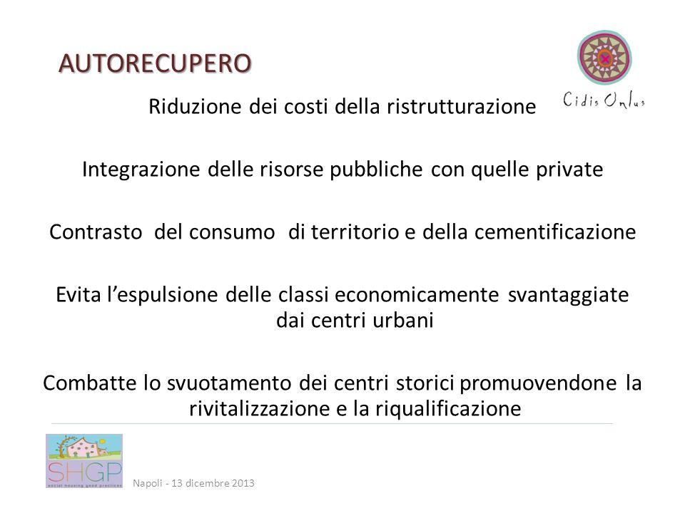 Via Mazzini, 12 - Cassano allIonio (CS) AUTORECUPERO Napoli - 13 dicembre 2013