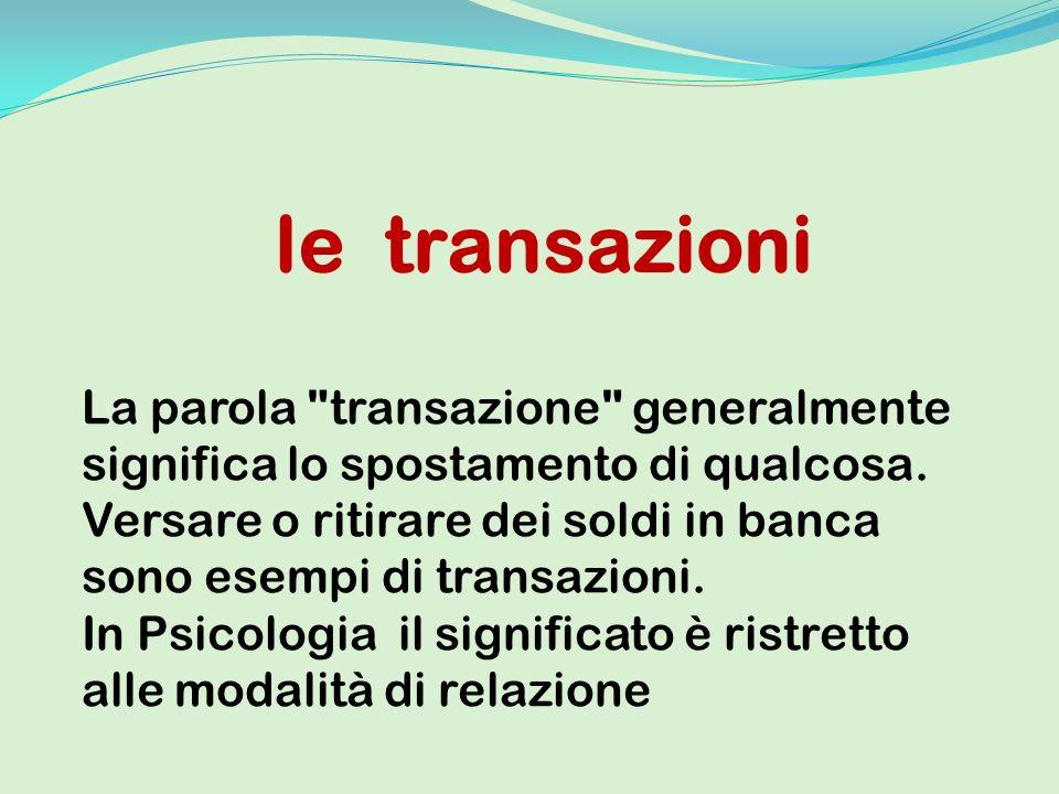 le transazioni La parola