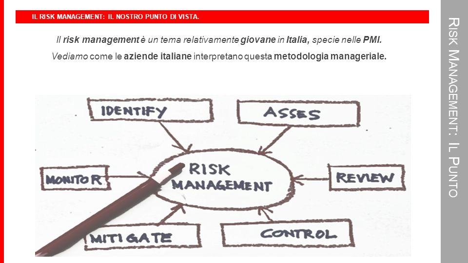 IL RISK MANAGEMENT: LA DEFINIZIONE EUROPEA.