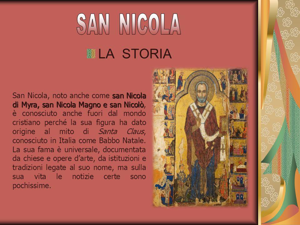 San Nicola nacque probabilmente a Pàtara di Licia tra il 260 e il 280, da Epifanio e Giovanna, che erano cristiani e benestanti.