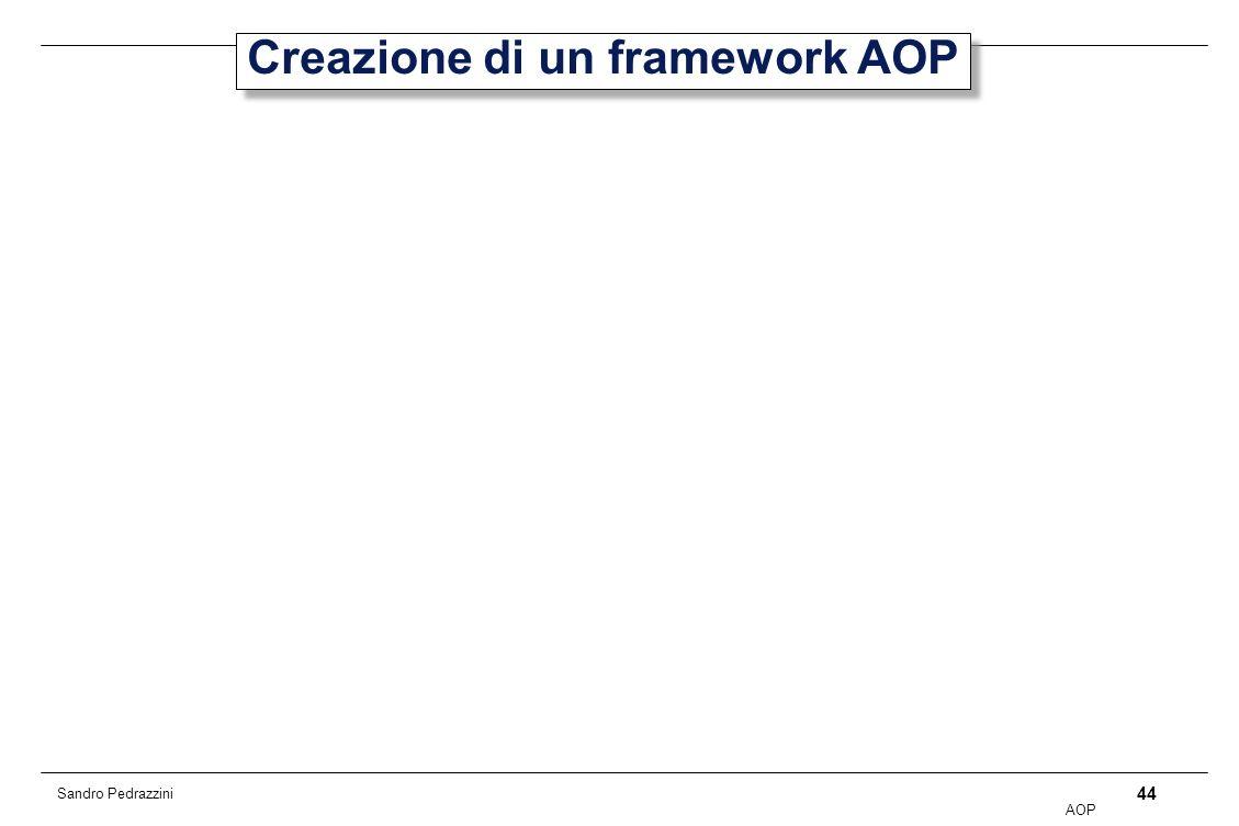 44 AOP Sandro Pedrazzini Creazione di un framework AOP