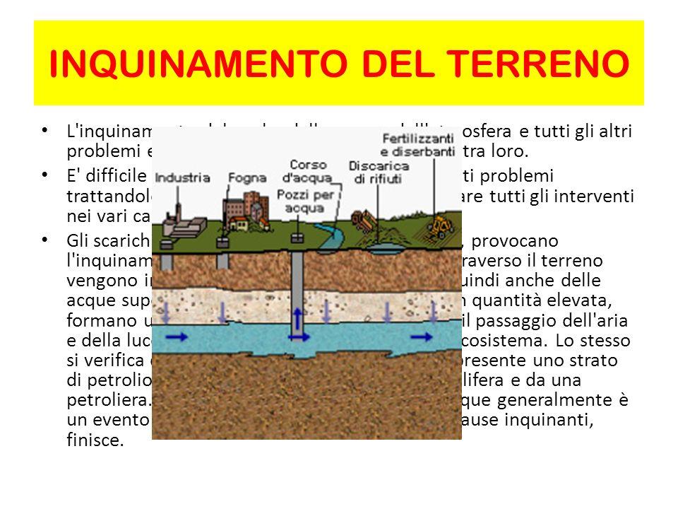 INQUINAMENTO DELLE ACQUE P er inquinamento delle acque si intende una modifica nella qualità dell acqua e che la rende quindi inadatta per l uso agricolo, industriale o potabile per l uomo e gli animali.