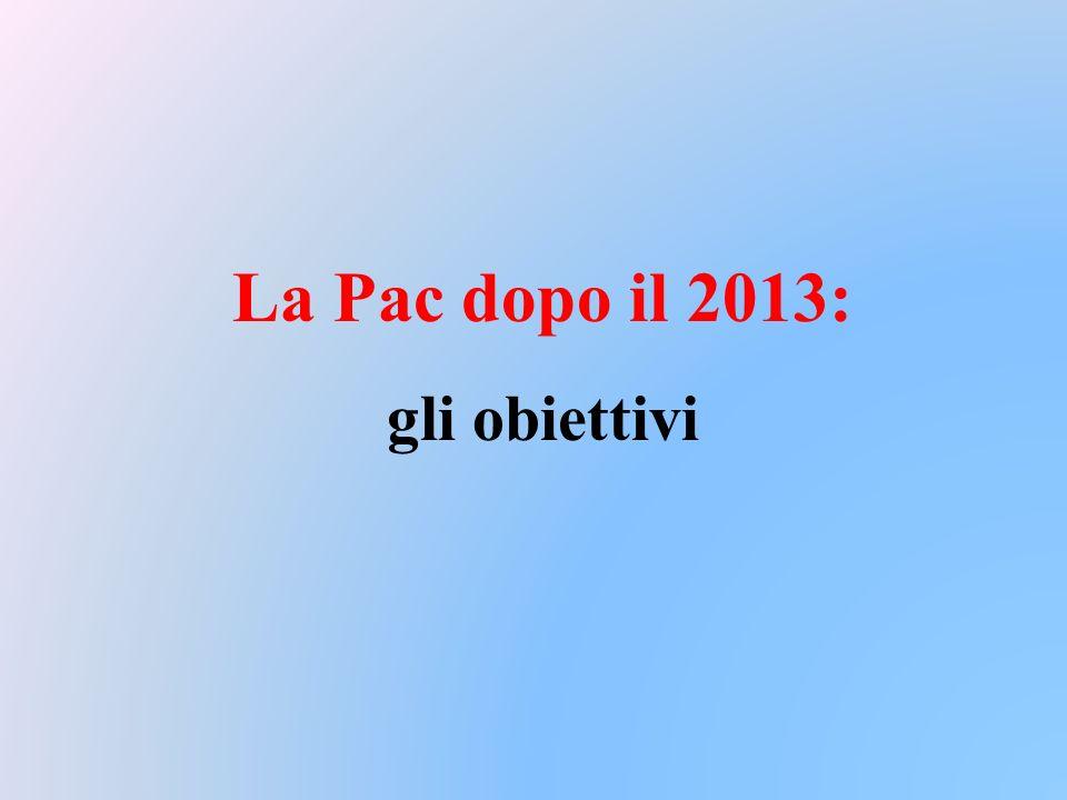 La Pac dopo il 2013: gli obiettivi