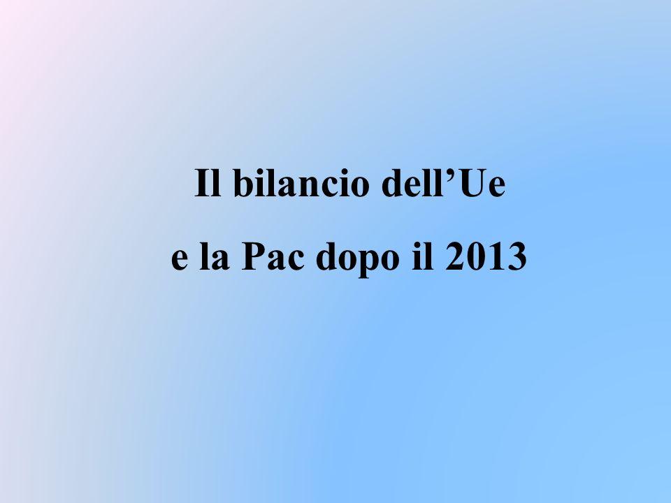 Il bilancio dellUe e la Pac dopo il 2013