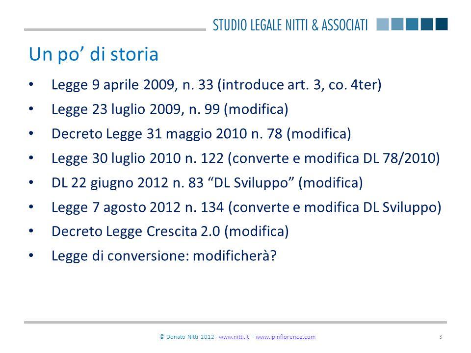 © Donato Nitti 2012 - www.nitti.it - www.ipinflorence.comwww.nitti.itwww.ipinflorence.com14 Gli obiettivi strategici e il programma di rete Obiettivi strategici: fase programmatica Programma di rete: fase attuativa