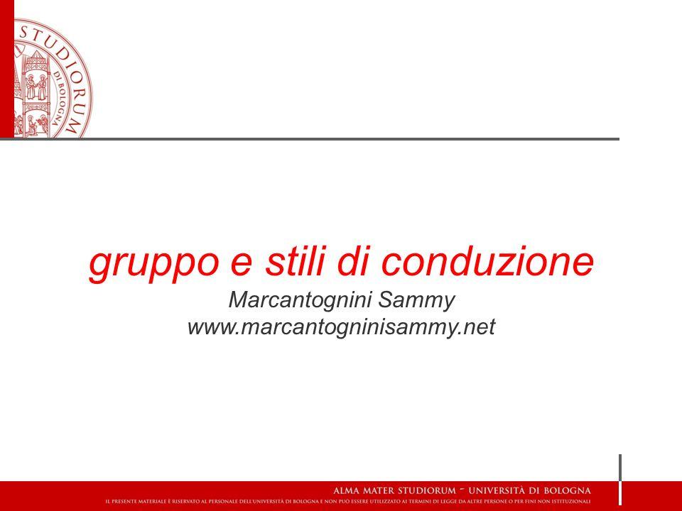 gruppo e stili di conduzione Marcantognini Sammy www.marcantogninisammy.net