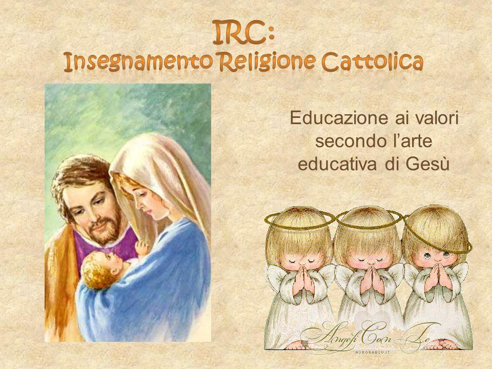 Educazione ai valori secondo larte educativa di Gesù