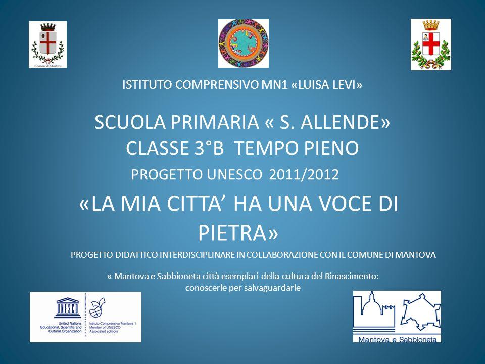 ISTITUTO COMPRENSIVO MN1 «LUISA LEVI» SCUOLA PRIMARIA « S.
