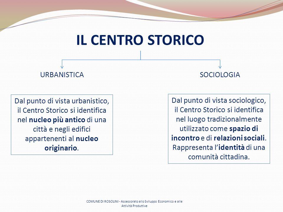 COMUNE DI ROSOLINI - Assessorato allo Sviluppo Economico e alle Attività Produttive IL CENTRO STORICO Dal punto di vista urbanistico, il Centro Storic
