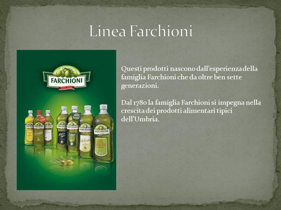 Questi prodotti nascono dallesperienza della famiglia Farchioni che da oltre ben sette generazioni. Dal 1780 la famiglia Farchioni si impegna nella cr