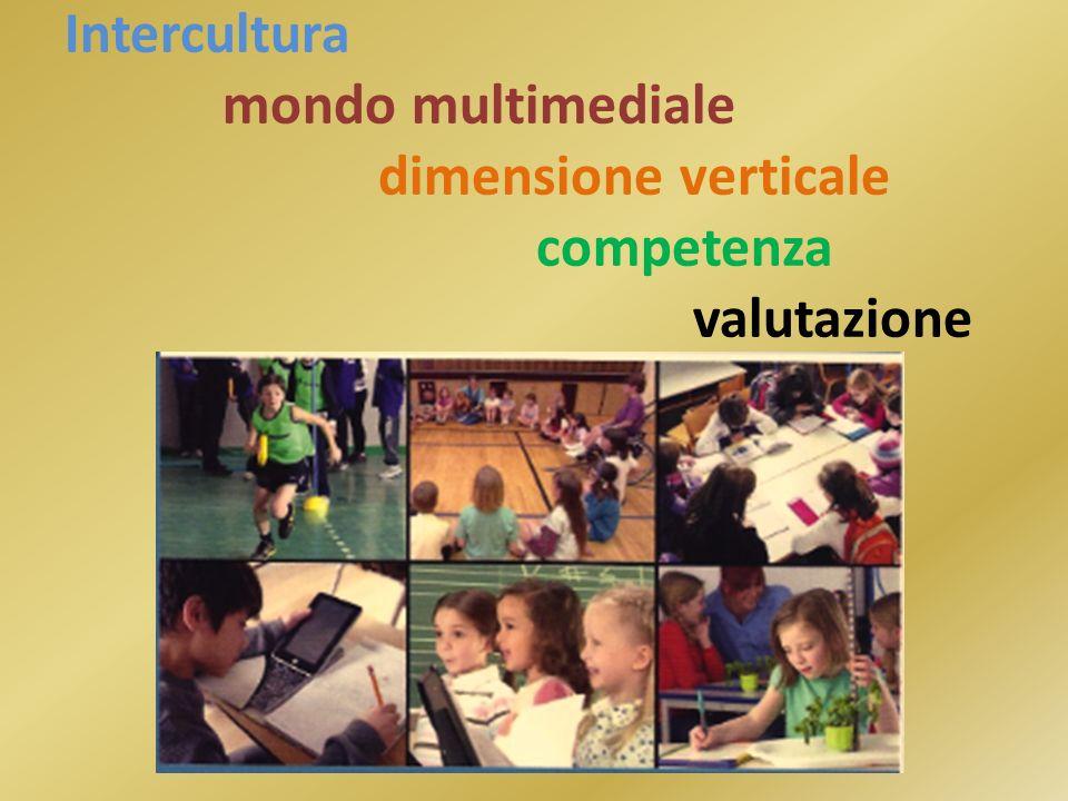 Intercultura mondo multimediale dimensione verticale competenza valutazione