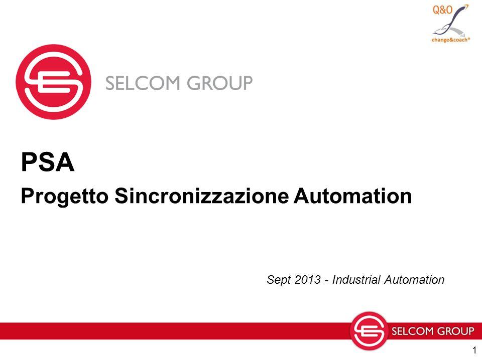 PSA Progetto Sincronizzazione Automation Sept 2013 - Industrial Automation 1