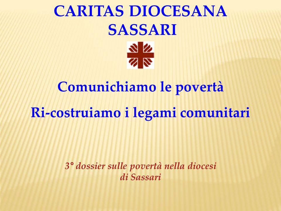 CARITAS DIOCESANA SASSARI Comunichiamo le povertà Ri-costruiamo i legami comunitari 3° dossier sulle povertà nella diocesi di Sassari
