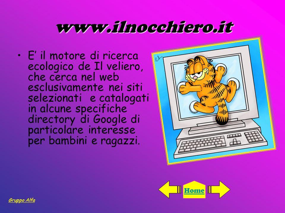 www.ilnocchiero.it E il motore di ricerca ecologico de Il veliero, che cerca nel web esclusivamente nei siti selezionati e catalogati in alcune specif