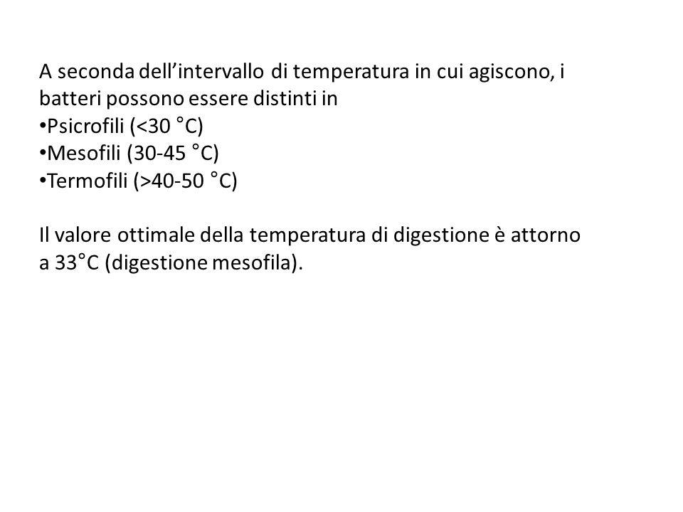 A seconda dellintervallo di temperatura in cui agiscono, i batteri possono essere distinti in Psicrofili (<30 °C) Mesofili (30-45 °C) Termofili (>40-5