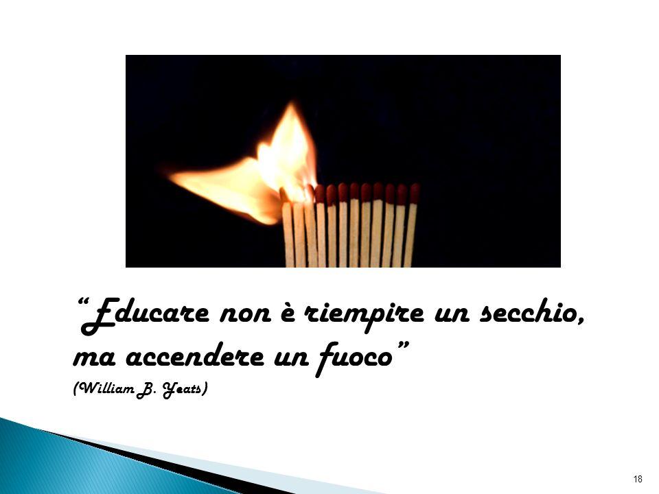 18 Educare non è riempire un secchio, ma accendere un fuoco (William B. Yeats)