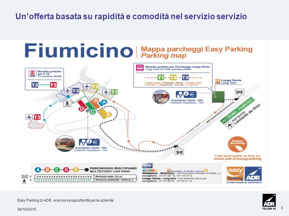 06/10/2010 Easy Parking di ADR, una nuova opportunità per le aziende 3 Unofferta basata su rapidità e comodità nel servizio servizio